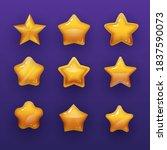 cartoon rating stars vector...