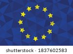 low poly europe flag vector... | Shutterstock .eps vector #1837602583