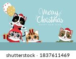 merry christmas and happy new... | Shutterstock .eps vector #1837611469