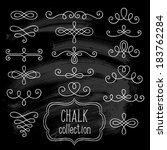 set of vintage ornate elements... | Shutterstock .eps vector #183762284
