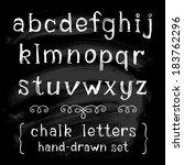vector set with hand written... | Shutterstock .eps vector #183762296