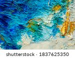 Abstract Oil Paint Background....