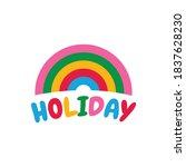 holiday design vector...   Shutterstock .eps vector #1837628230