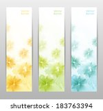 abstract flower vector... | Shutterstock .eps vector #183763394