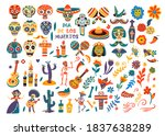 day of the dead mexican holiday ... | Shutterstock .eps vector #1837638289