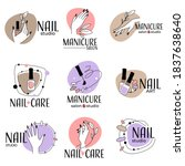 manicure salon and studio for... | Shutterstock .eps vector #1837638640