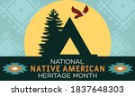 national native american... | Shutterstock .eps vector #1837648303