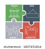 fomc   federal open market... | Shutterstock .eps vector #1837651816