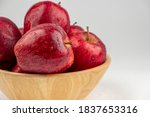 Pile Of Red Apple In Wooden...