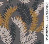 dark tropical seamless pattern. ... | Shutterstock .eps vector #1837663480