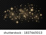 sparkling magical dust... | Shutterstock .eps vector #1837665013