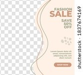 abstract fashion sale banner... | Shutterstock .eps vector #1837674169