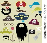 set of pirates elements  ... | Shutterstock .eps vector #183770579