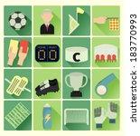 flat icons soccer set | Shutterstock .eps vector #183770993