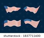 happy veterans day  waving...   Shutterstock .eps vector #1837711600
