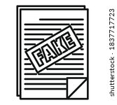 Fake News Papers Icon. Outline...