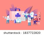 health care vaccination concept.... | Shutterstock .eps vector #1837722820