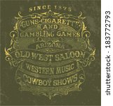 old west style poster   vintage ...   Shutterstock .eps vector #183772793