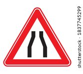 traffic  road sign. two sided... | Shutterstock .eps vector #1837745299