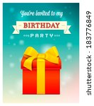 vector surprise gift box with a ...   Shutterstock .eps vector #183776849