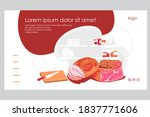 meat products landing page... | Shutterstock .eps vector #1837771606