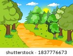 forest work in different shades ... | Shutterstock .eps vector #1837776673