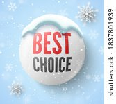 best choice banner with white... | Shutterstock .eps vector #1837801939