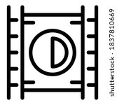 play movie icon. outline play...