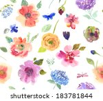 watercolor seamless pattern | Shutterstock . vector #183781844
