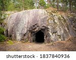 Landscape With Cave And Forest. ...
