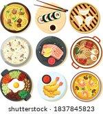 asian cuisine  food... | Shutterstock .eps vector #1837845823