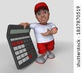 3d render of cartoon sports... | Shutterstock . vector #1837870519