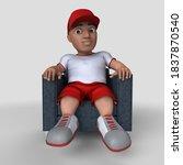 3d render of cartoon sports... | Shutterstock . vector #1837870540