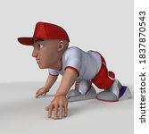 3d render of cartoon sports... | Shutterstock . vector #1837870543