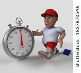 3d render of cartoon sports... | Shutterstock . vector #1837870546