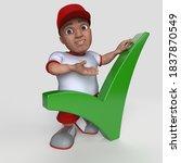 3d render of cartoon sports... | Shutterstock . vector #1837870549