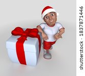 3d render of cartoon sports... | Shutterstock . vector #1837871446
