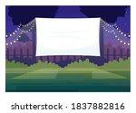 festive outdoor cinema screen... | Shutterstock .eps vector #1837882816