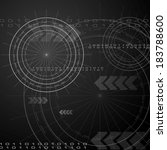 black hi tech vector background | Shutterstock .eps vector #183788600