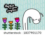 reflect on your progress hand...   Shutterstock .eps vector #1837901170