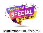tag special weekend discount up ... | Shutterstock .eps vector #1837906693