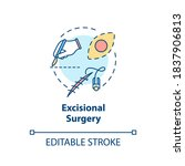 excisional surgery concept icon....   Shutterstock .eps vector #1837906813