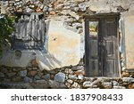 Old Abandoned House Ruins With...