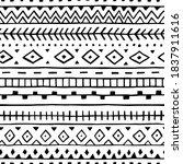 seamless ethnic pattern.... | Shutterstock .eps vector #1837911616