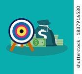 target and money. management... | Shutterstock .eps vector #1837916530