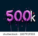 500k sign violet balloons with... | Shutterstock .eps vector #1837919503