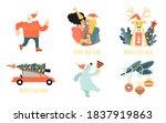 set of vector stickers for... | Shutterstock .eps vector #1837919863