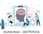 psychotherapist examining...   Shutterstock .eps vector #1837924216