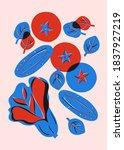 botanical poster cucumbers ... | Shutterstock . vector #1837927219