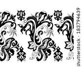hand drawn paisley seamless...   Shutterstock . vector #183794639